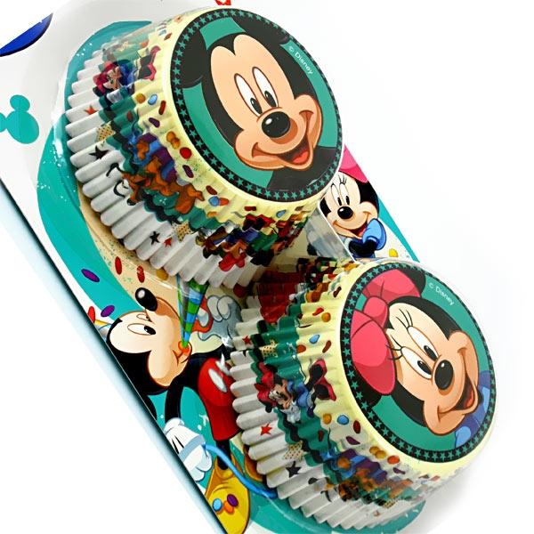 Muffinförmchen mit Mickey Maus und Minnie Mouse, 50 Stück, Papier