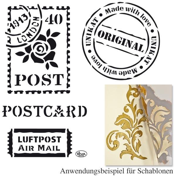 Universal Schablone POSTCARD, DINA4, wiederverwendbar