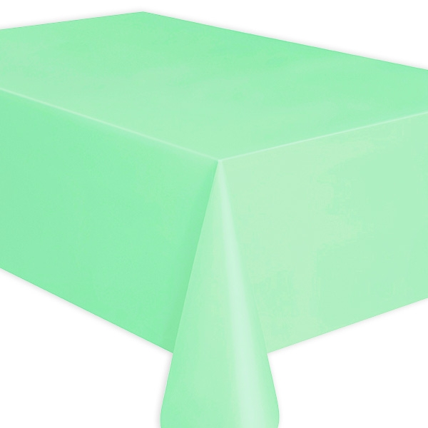 Tischdecke mintgrün aus Folie, universell einsetzbar, 1 Stück