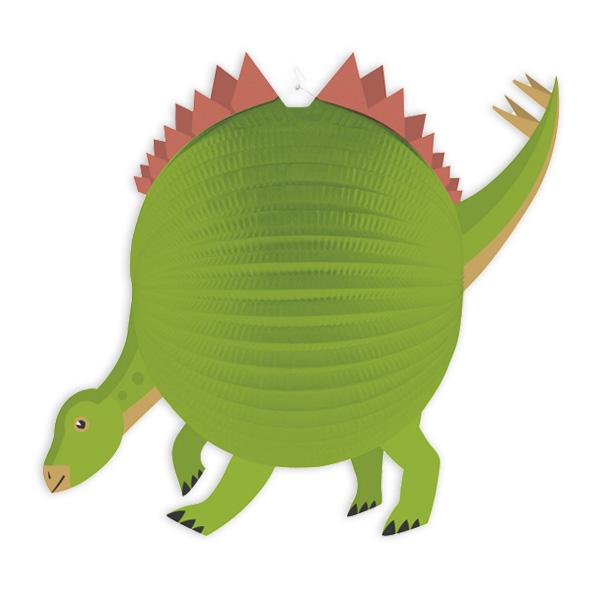 Dinosaurier Lampion mit Kerzenhülse, 1 Stück, Ø 25cm