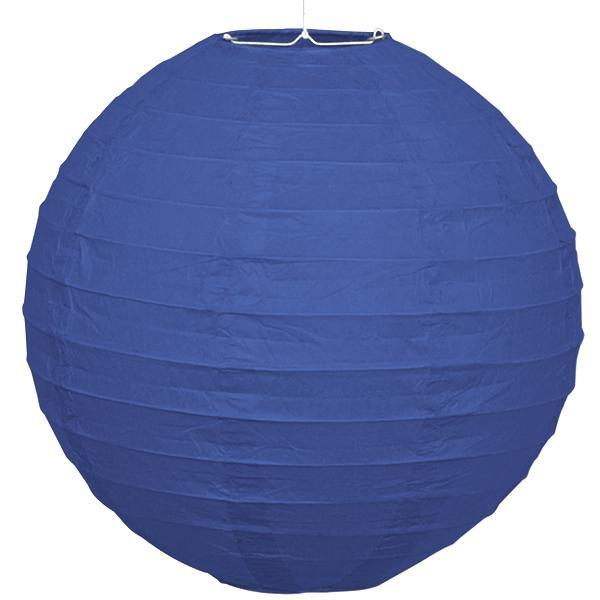 Papier-Lampion, in blau, 25,4cm, Raumdekoration, mit Schnur