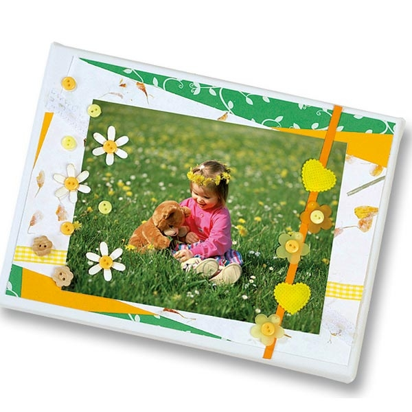 Scrapbooking Dekoset Sommer +Knöpfe mit Bastelkarton, Seide, Vlies, Blütenpapier etc.