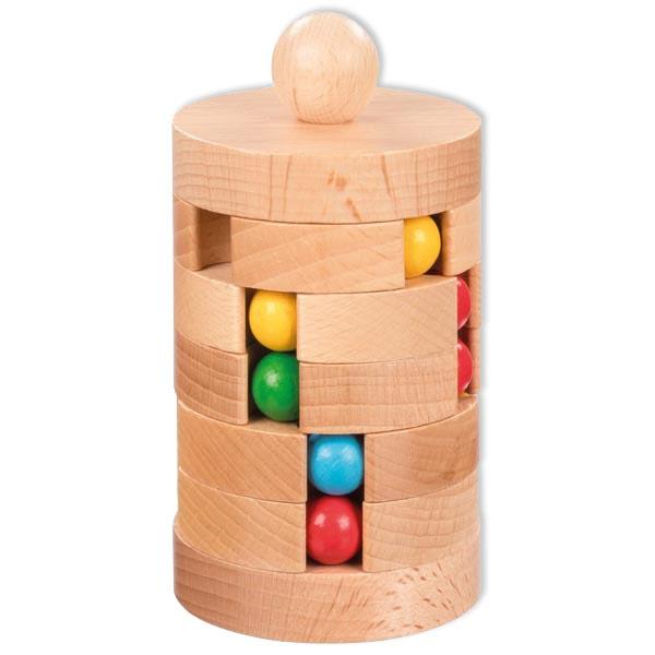Kugelturm aus Holz, Geduldsspiel für Kinder