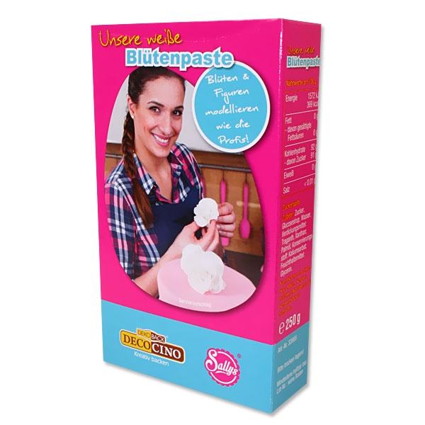 Weiße Blütenpaste für Blümchen auf Torte und Kuchen, 250g, essbar