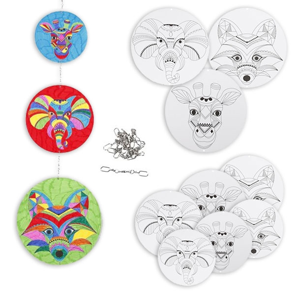 Mandala-Mobile Bastelset, Mandala Wanddeko / Raumdeko mit 9 Motiven
