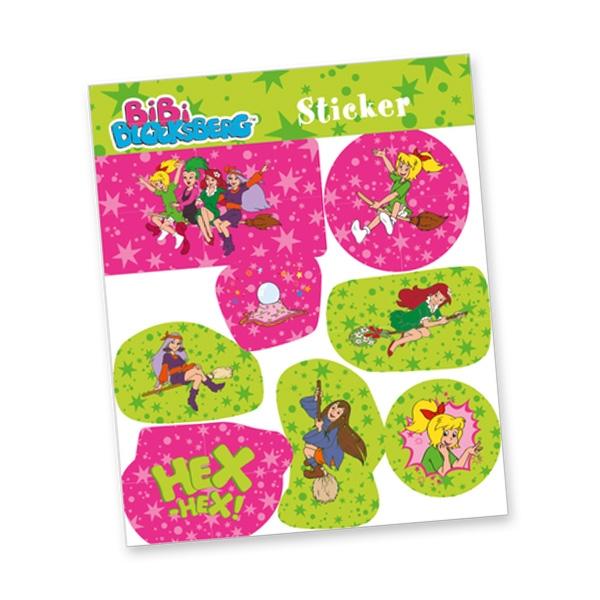 """Stickerbogen """"Bibi Blocksberg"""" mit 8 Stickern"""