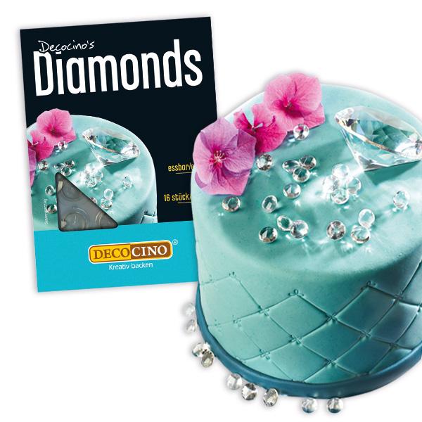 Essbare Diamanten aus Isomalt, 16 Stück
