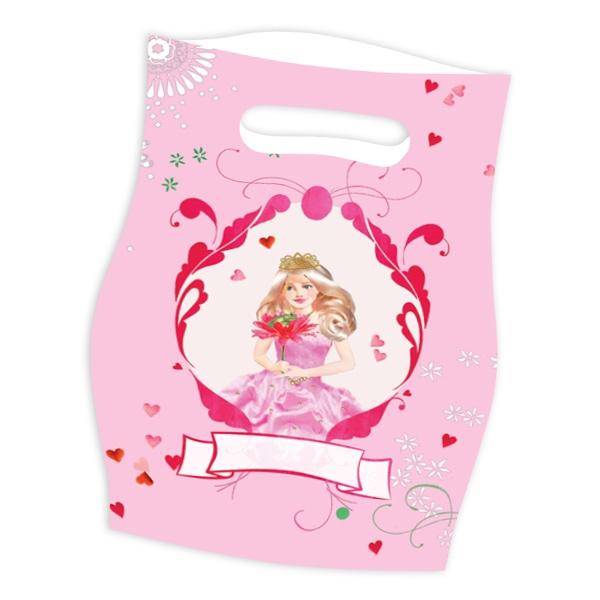Prinzessin Mitgebseltüten aus Folie, 25×17cm, 8er Pack Geschenktüten