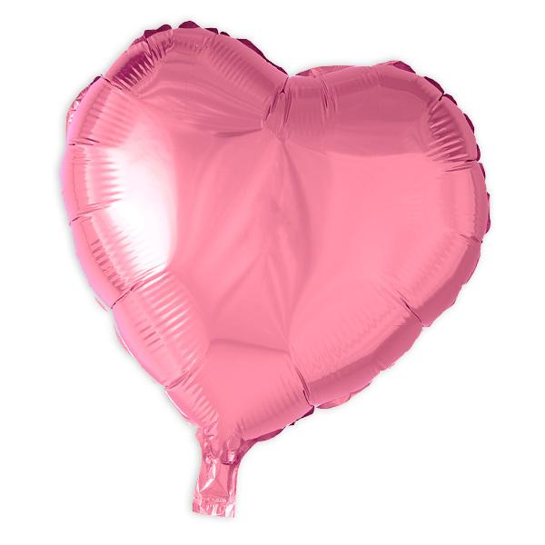 Herz-Folienballon pink, 35 cm