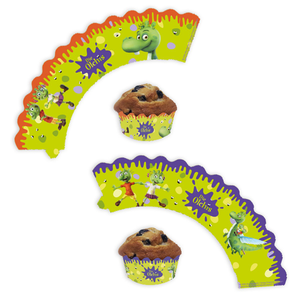 Die Olchis Muffinbanderolen, 12er Pack