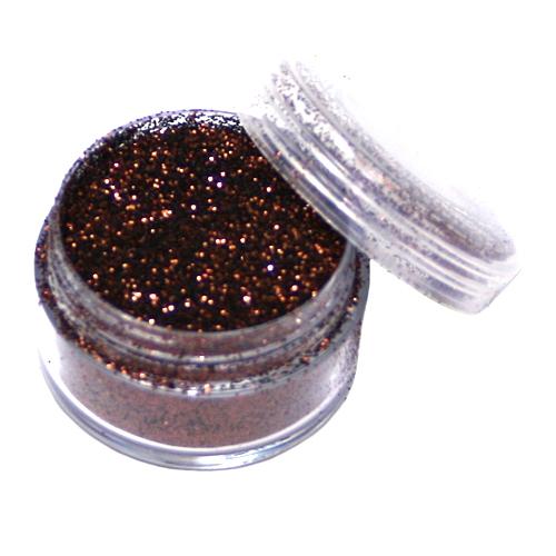 Metallic-Glitterspäne Schokobraun, 5ml Dose für Tattoos/zum Basteln