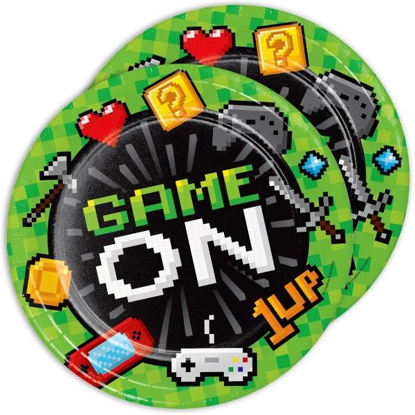 """""""Game On"""" Partyteller im 8er Pack, Ø 22cm"""