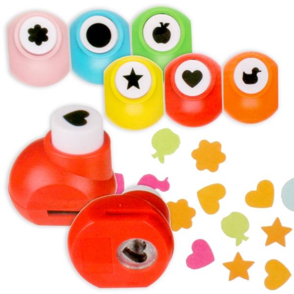 Motiv-Stanzer 8er Pack, tolle Motive für Kinder: Herz, Ente, Blume etc.