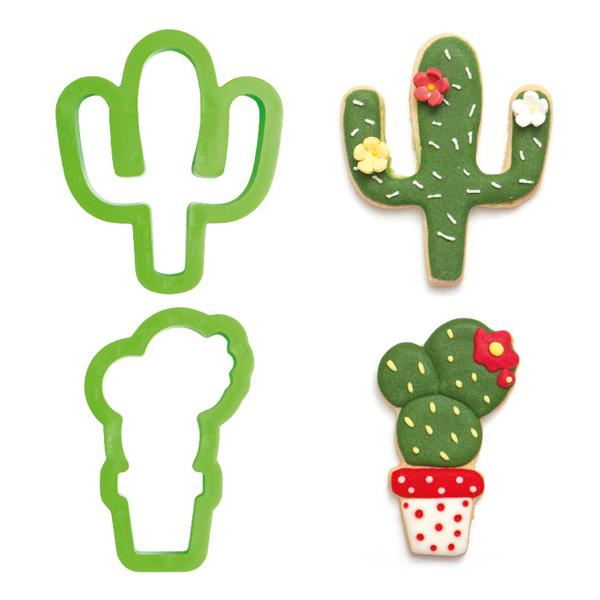 "Ausstechformen ""Kaktus"" im 2er Set, aus Kunststoff"