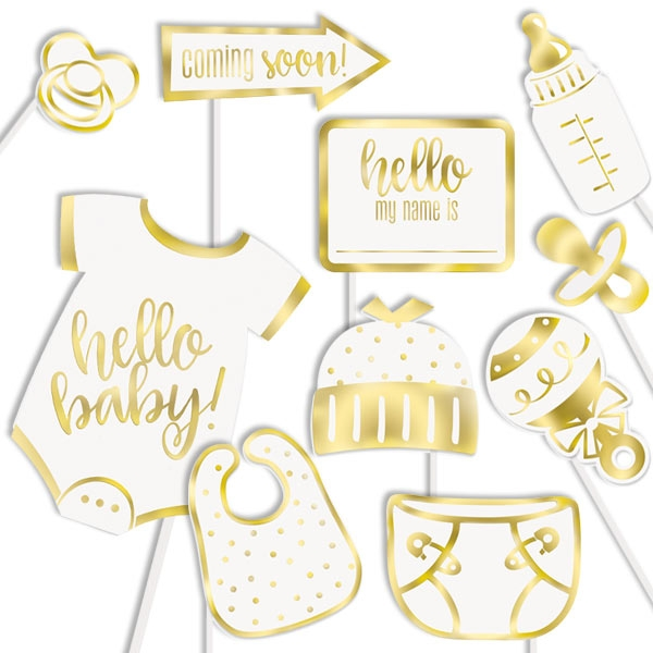 Fotorequisiten-Set BABY 10-teilig, Babyparty