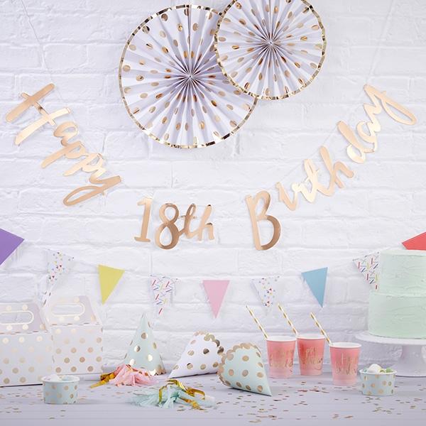 "Partygirlande ""Happy 18th Birthday"", 1,5m"