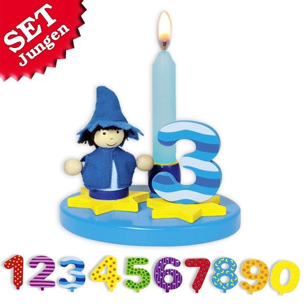 Geburtstagskind Junge, Tischdeko + Kerzen, Goki