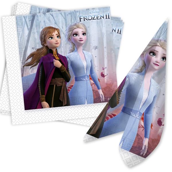 Frozen 2 - Servietten mit Anna und Elsa, 20 Stk, 33x33cm