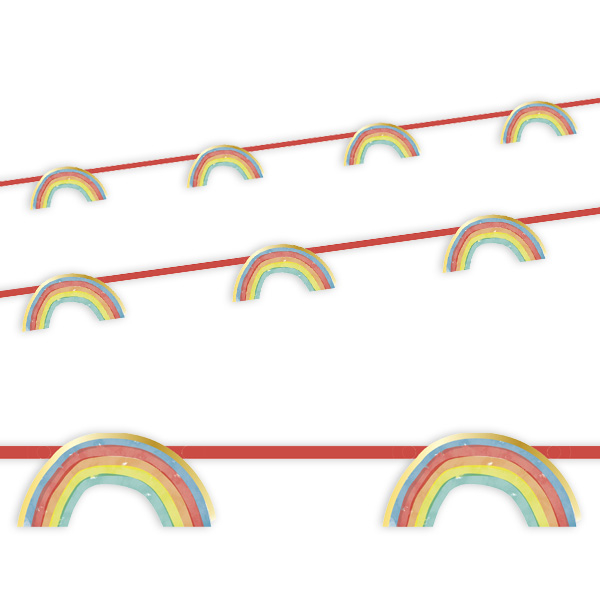 Regenbogen Banner, 2,3m