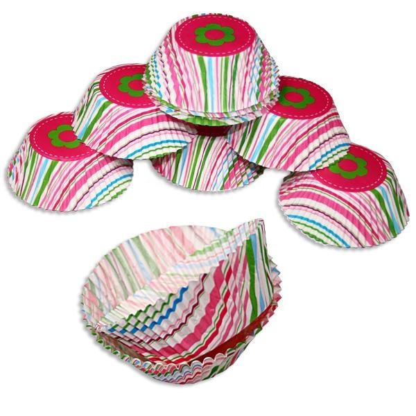 hübsche Muffinformen aus Papier gestreift, 50 Stk. ca.5cm, Muffins Papierformen f.Geburtstag
