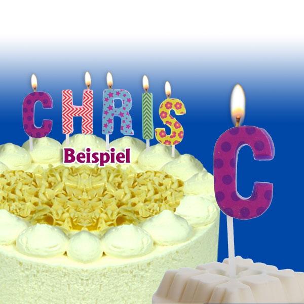 Mini Kerze Buchstabe C für Namen & persönliche Sprüche, 2,5cm, 1 Stück