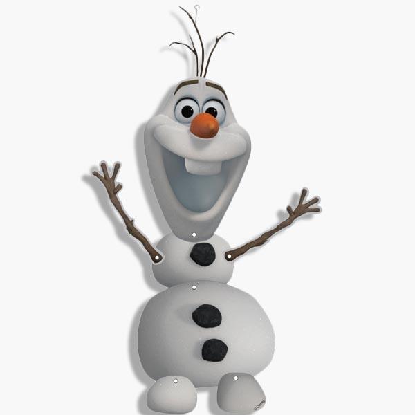 Olaf-Figur aus Eiskönigin 14×53 cm
