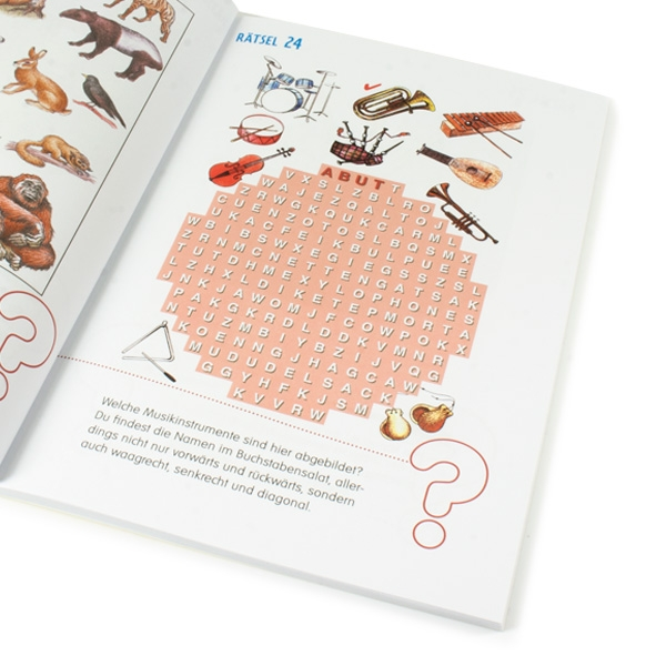 Logische Denkrätsel für Kinder, 64 Rätsel mit Lösungen, 1 Rätselheft