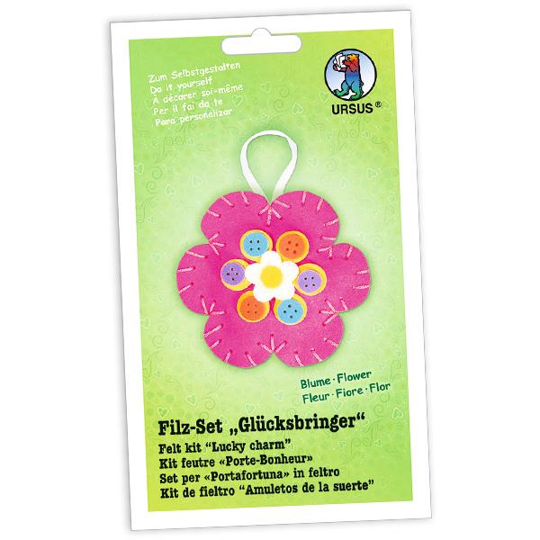 """Filz-Glücksbringer Bastelset """"Blume"""""""