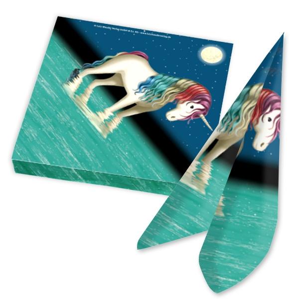 Einhorn Lunabelle Servietten, 20 dreilagige Papierservietten, 33cm