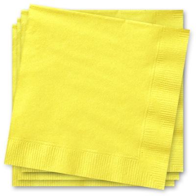 Gelbe Servietten 33 cm, einfarbige Papierservietten, 2-lagig, 20 Stück