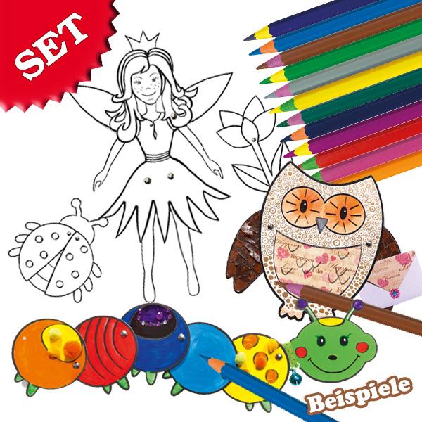 Bastelset Gelenkfiguren + Stifte, für Mädchen