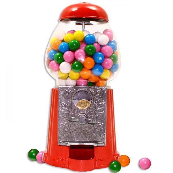 Kaugummiautomat, der kleine Ladenknüller für Zuhause, und jede Münze passt