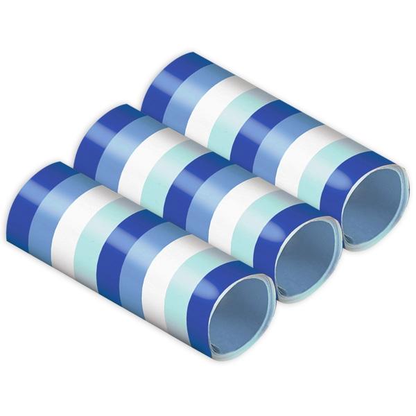 Luftschlangen in Blautönen