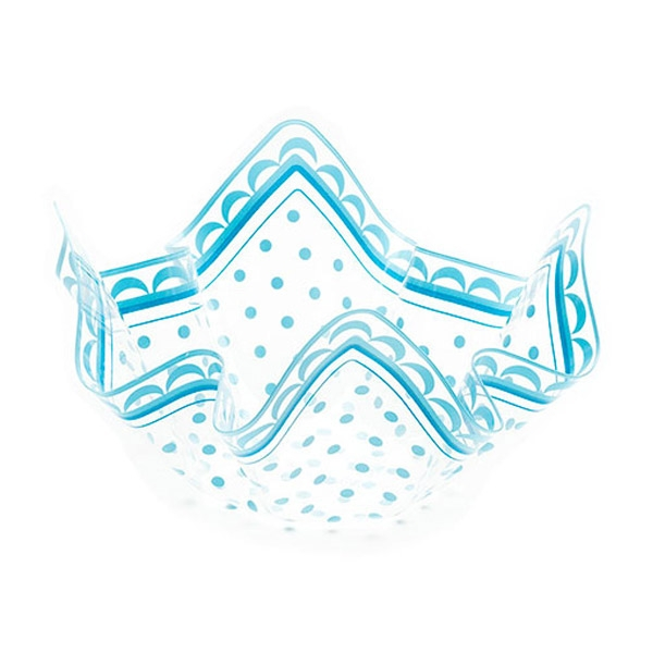 Deko-Schale, transparent hellblau, 22,5 cm x 12 cm, 1 Stück