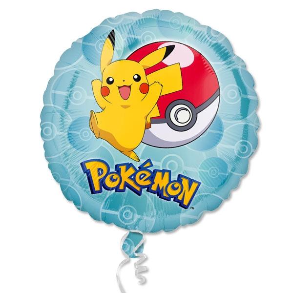 Pokemon Folienballon mit Pikachu und Pokeball, 1 Stk, 35cm