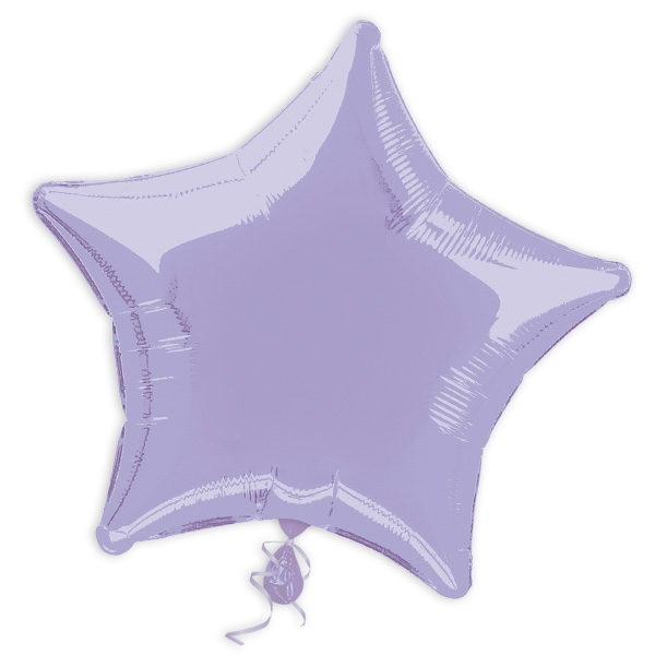 Stern-Folienballon lavendel 44cm, Sternenballon als Deko/Geschenk