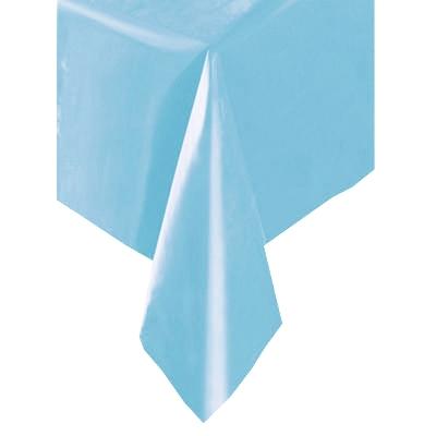 Tischdecke hellblau ca.137x274cm, abwaschbare Folientischdecke, 1Stk.