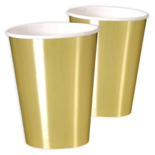 Maxi-Becher, metallic gold, 8er Pack