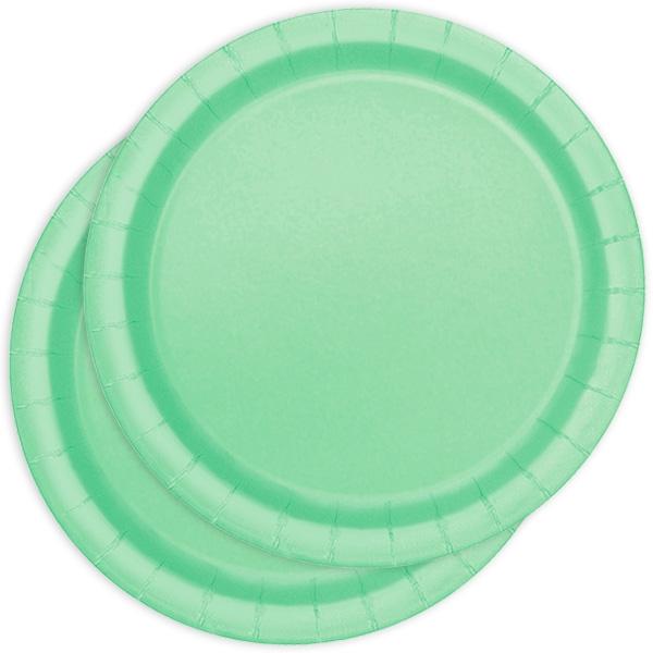 Pappteller einfarbig mintgrün 16 St.