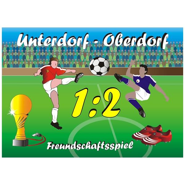 Fußball Tortenaufleger eckig essbar, EA4