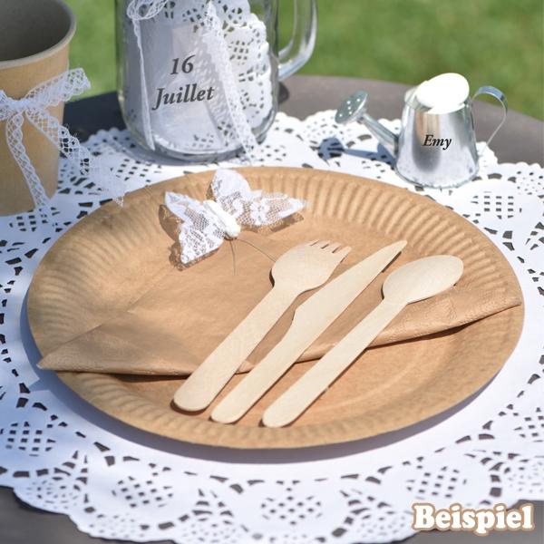 Messer im Set, aus Holz, 10 Stück, Holzmesser mit gezahnter Klinge