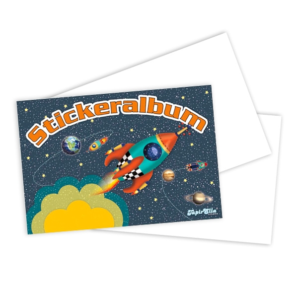Weltraum-Stickeralbum, Stickerheft zum Sammeln & Tauschen, 1 Stk, 12 S.