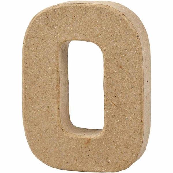 O Buchstabe, handgearbeitet aus Pappe, zum Bemalen/Bekleben, ca. 10 cm