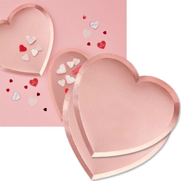 Herz Teller, Love Party, Valentinstag, Muttertag..., 8er Pck, 23cm