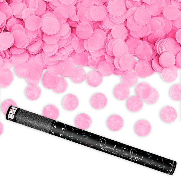 Gender Reveal Konfettishooter in pink, 58cm