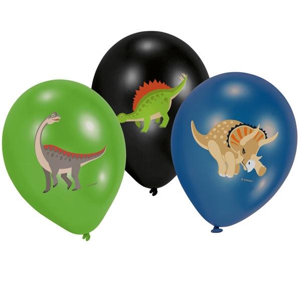 Dino Luftballons, 6er Pck, 27,5cm