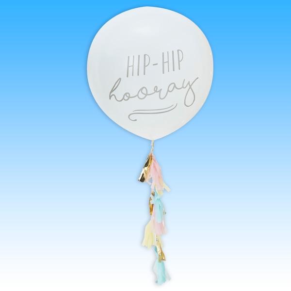 "XXL Ballon ""Hip Hip Hooray"" 1 Stk, 90cm"