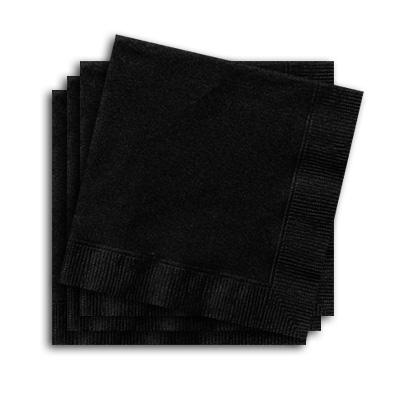 Servietten schwarz, 20 Stück, 25 cm