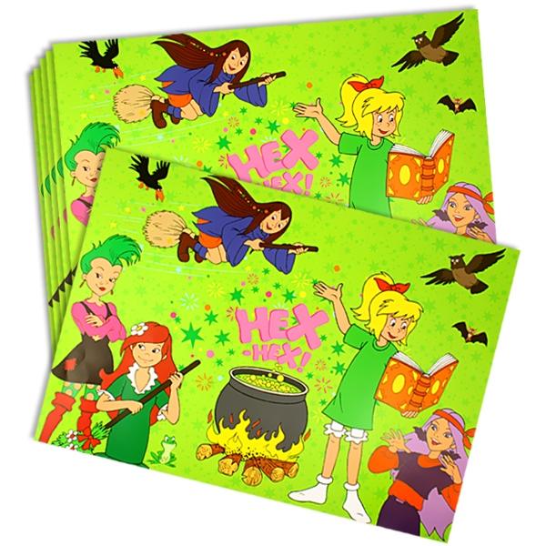 Bibi Blocksberg Platzdeckchen, 6er, Tischdeko Hexenparty Kinder, Papier