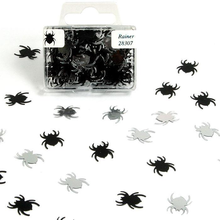 Spinnen-Konfetti in der Box für Gruselpartys, 1 Btl., 20g